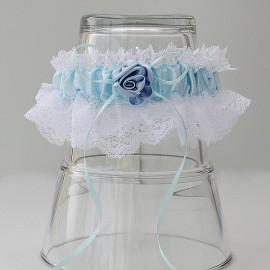 Bielo modré podväzky